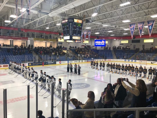 Detroit Country Day and East Grand Rapids played in the Division 3 semifinal on March 8, 2019 at USA Hockey Arena in Plymouth, MI.