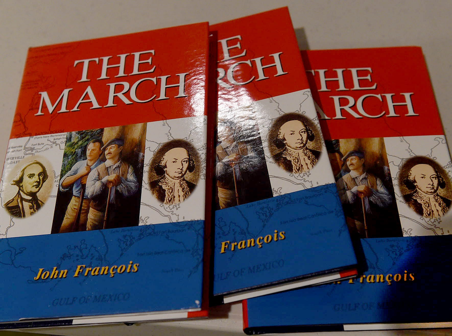 """""""The March"""" author, John Francois was the guest speaker at the monthly meetng of the Imperial St. Landry Genealogical Society held Saturday at the Opelousas Public Library."""