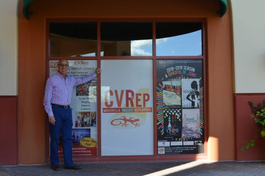 Coachella Valley Repertory founder and artistic director Ron Celona outside the new 208-seat CVRep Playhouse in Cathedral City, March 8, 2019.