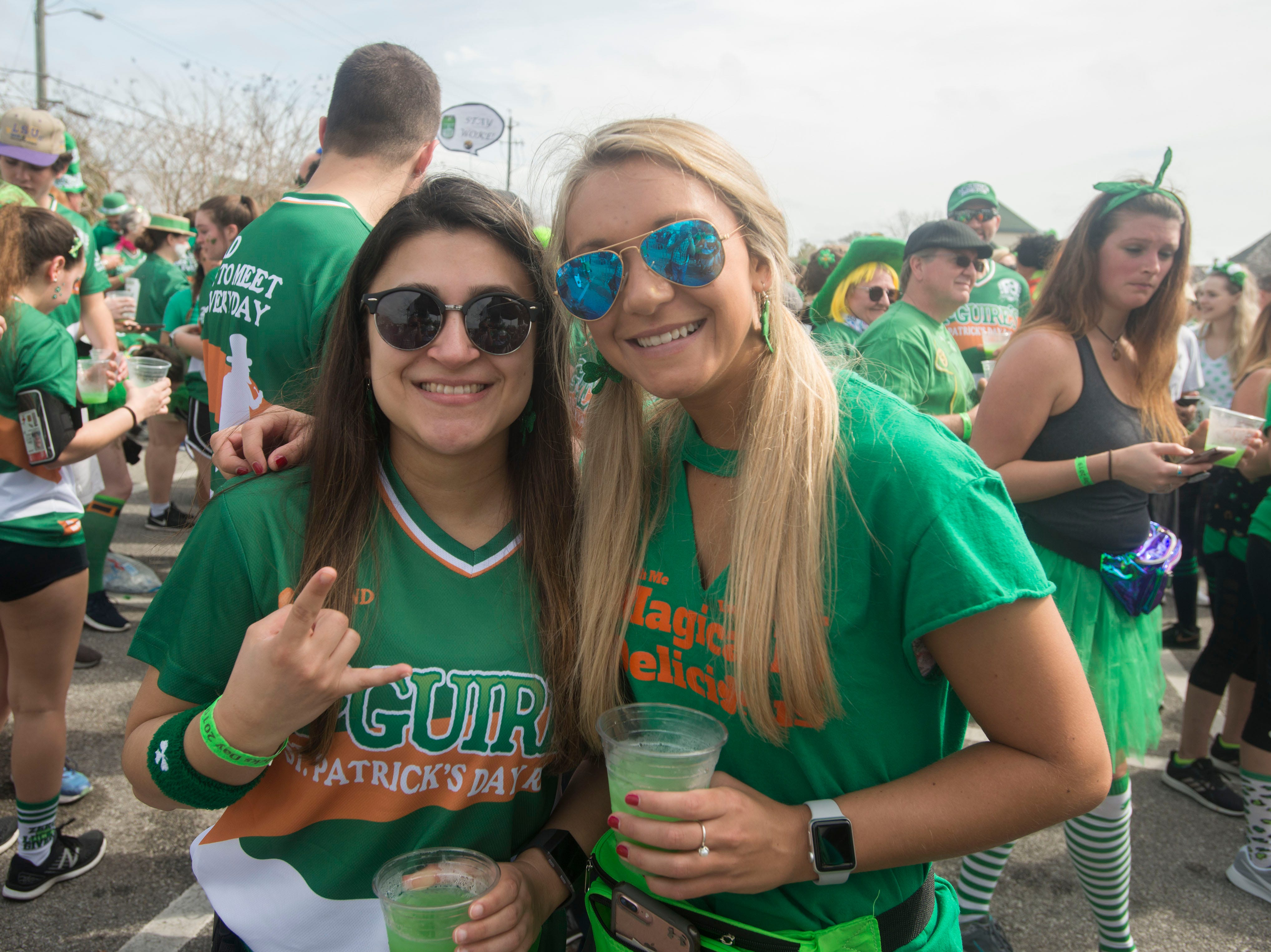Runners party Ssaturday, March 9, 2019 during the 42nd annual McGuire's St. Patrick's Day Run after party.