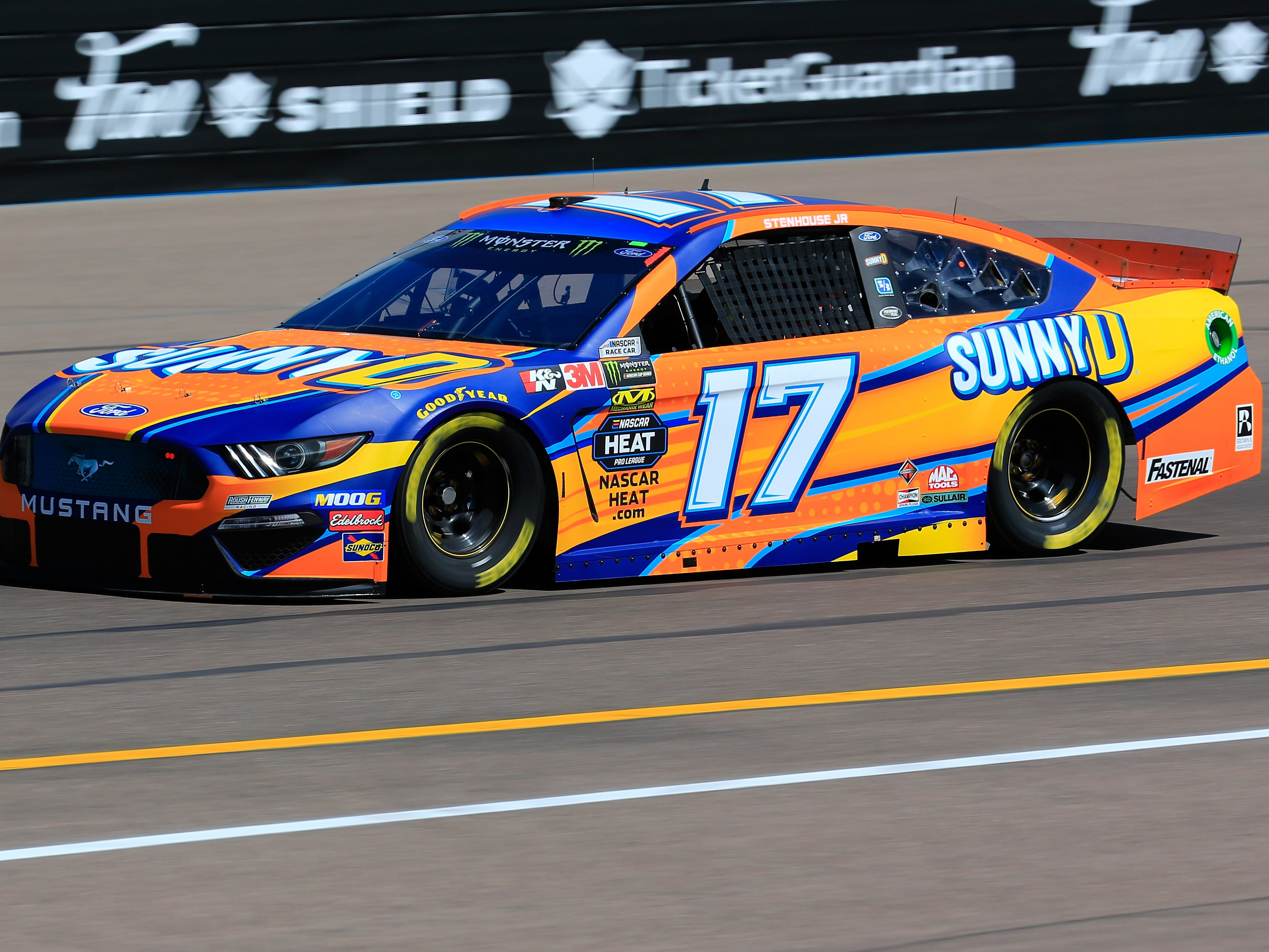 AVONDALE, AZ - MARCH 08: Ricky Stenhouse Jr., driver of the #17 Sunny D Ford, practices for the Monster Energy NASCAR Cup Series TicketGuardian 500 at ISM Raceway on March 8, 2019 in Avondale, Arizona.