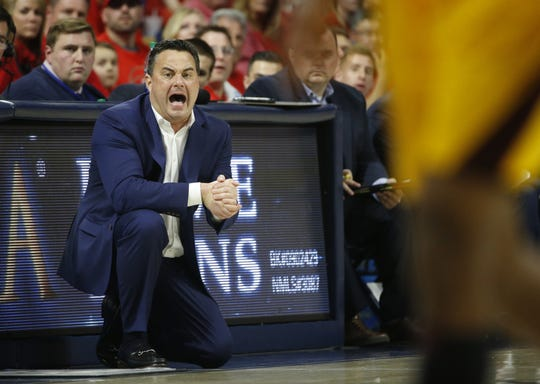 Sean Miller coaches the Wildcats against ASU on Saturday at McKale Center.