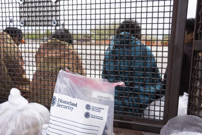 Dozens of Central American migrants were dropped off at a Phoenix Greyhound bus station by ICE federal officials in 2019.