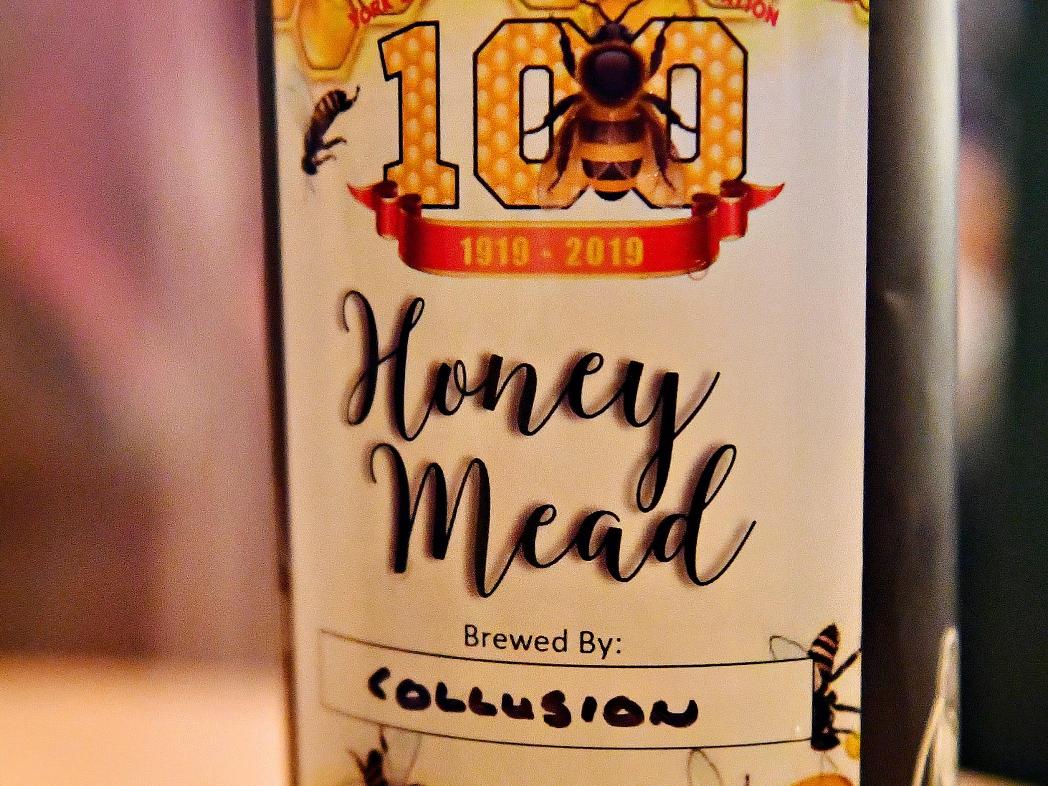 Honey Mead, available at Collusion Tap Works, is available for tasting during the York County Beekeepers Association Centennial Banquet at Central Market in York City, Friday, March 8, 2019. Dawn J. Sagert photo