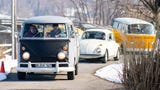 """On March 9, the Southern Pennsylvania Volkswagen Club and members of the community drove by the Haines Shoe House in honor of Melanie """"Mel"""" Schmuck."""