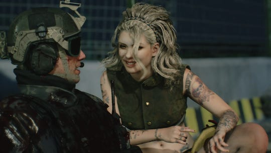 Nico Goldstein tries to cheer up poor Crew Cut in Devil May Cry 5.