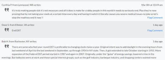 Excerpts from the Petition2Congress to end daylight saving time.