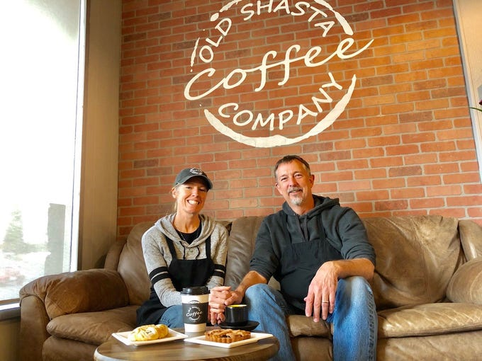 Jodi and Eric Fogelin own the new Old Shasta Coffee Company on Eureka Way in west Redding.
