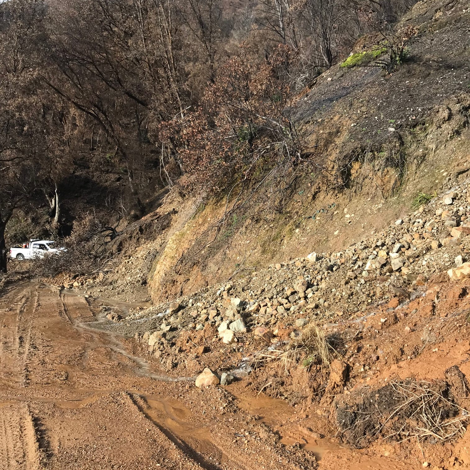 Mudslide causes road closure near French Gulch