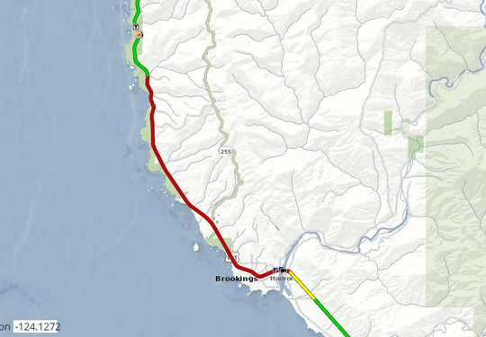 Highway 101 is open north of Brookings as of 11 a.m. Saturday, March 9.