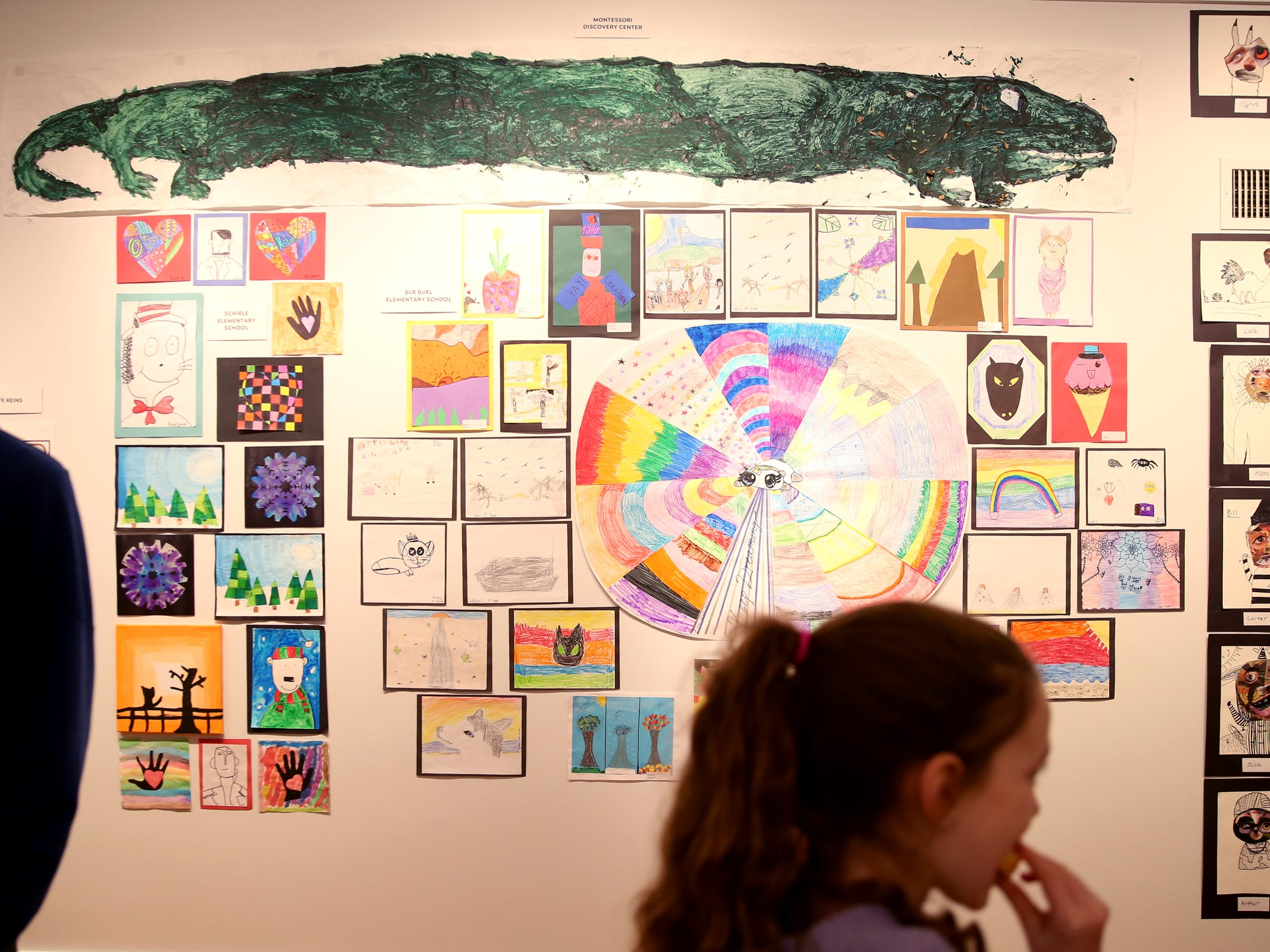 Art is on display during the awards reception for the 10th annual Young Artists' Showcase at the Bush Barn Art Center in Salem on March 9, 2019. The exhibit features artwork by more than 400 students in Marion, Polk and Yamhill counties and runs through April 20.