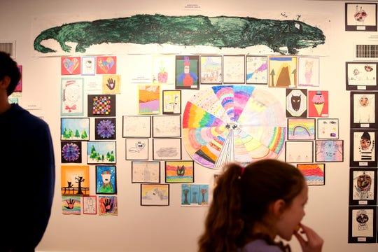 Art is on display photographed at the 10th annual Young Artists' Showcase March 9, 2019.