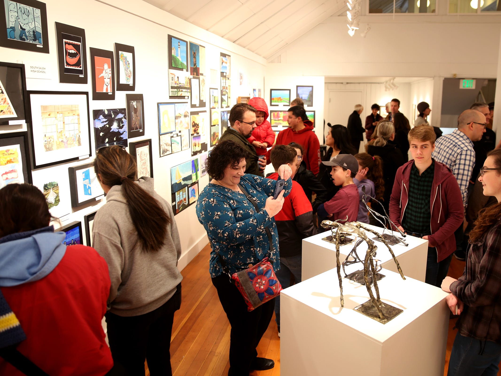 The awards reception for the 10th annual Young Artists' Showcase at the Bush Barn Art Center in Salem on March 9, 2019. The exhibit features artwork by more than 400 students in Marion, Polk and Yamhill counties and runs through April 20.