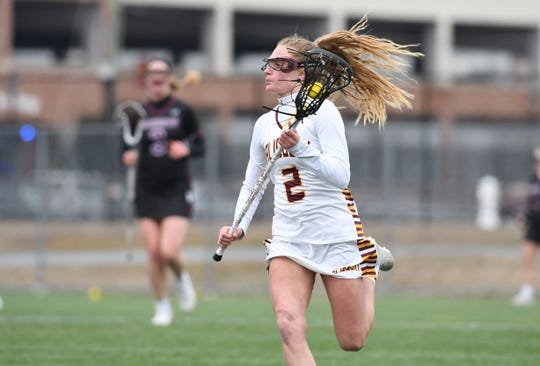 Salisbury University's Courtney Fegan controls the ball against Washington College on Saturday, March 9, 2019 at Seagull Stadium.