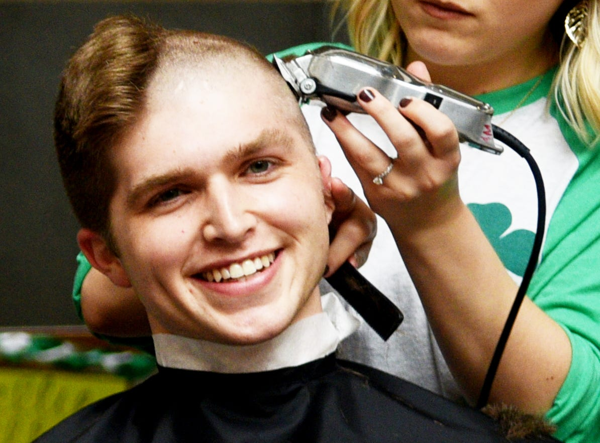 LSU Health Shreveport students and faculty participated in Geaux Bald's Shave Day Friday, March 8, 2019 which helps fund childhood cancer research.