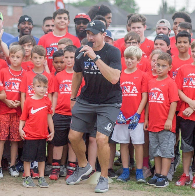 Drew Brees' Football 'N' America headed to Shreveport