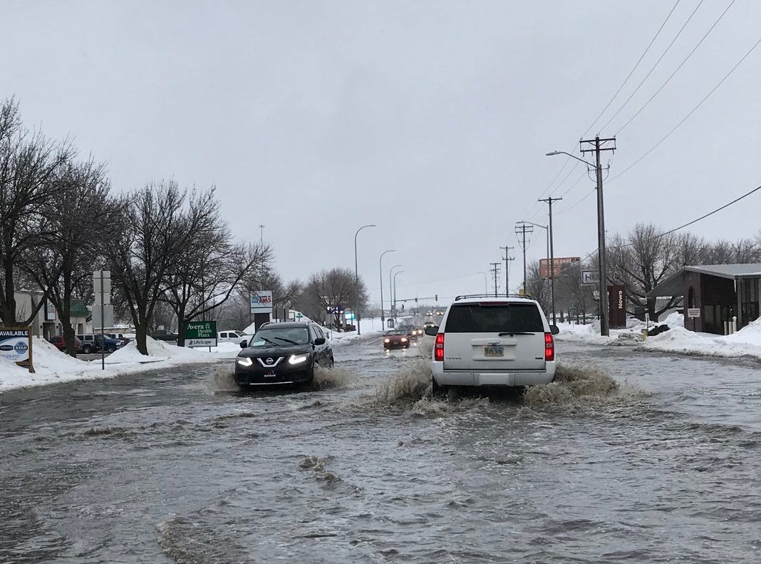 Flooding on Western Avenue March 9, 2018.