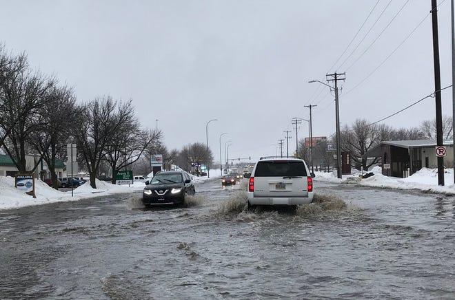 Flooding on Western Avenue March 9, 2018.