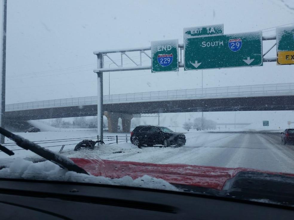 Car crash on I-229 on March 9, 2019.
