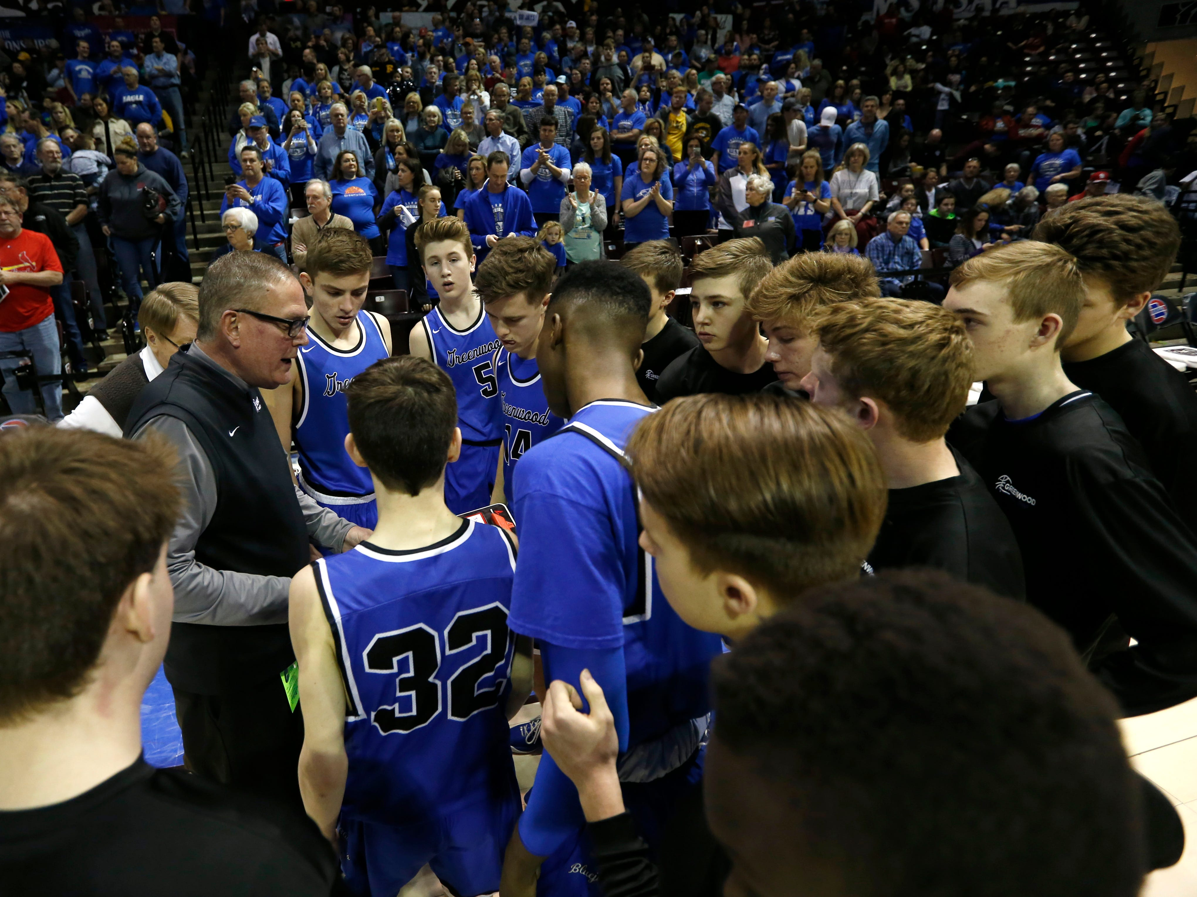 The Greenwood Blue Jays take on the Oran Eagles in the Class 2 state championship game at JQH Arena on Saturday, March 9, 2019.