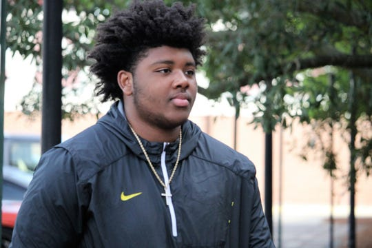 Four-star defensive tackle Eric Taylor at FSU junior day on Mar. 9, 2019.