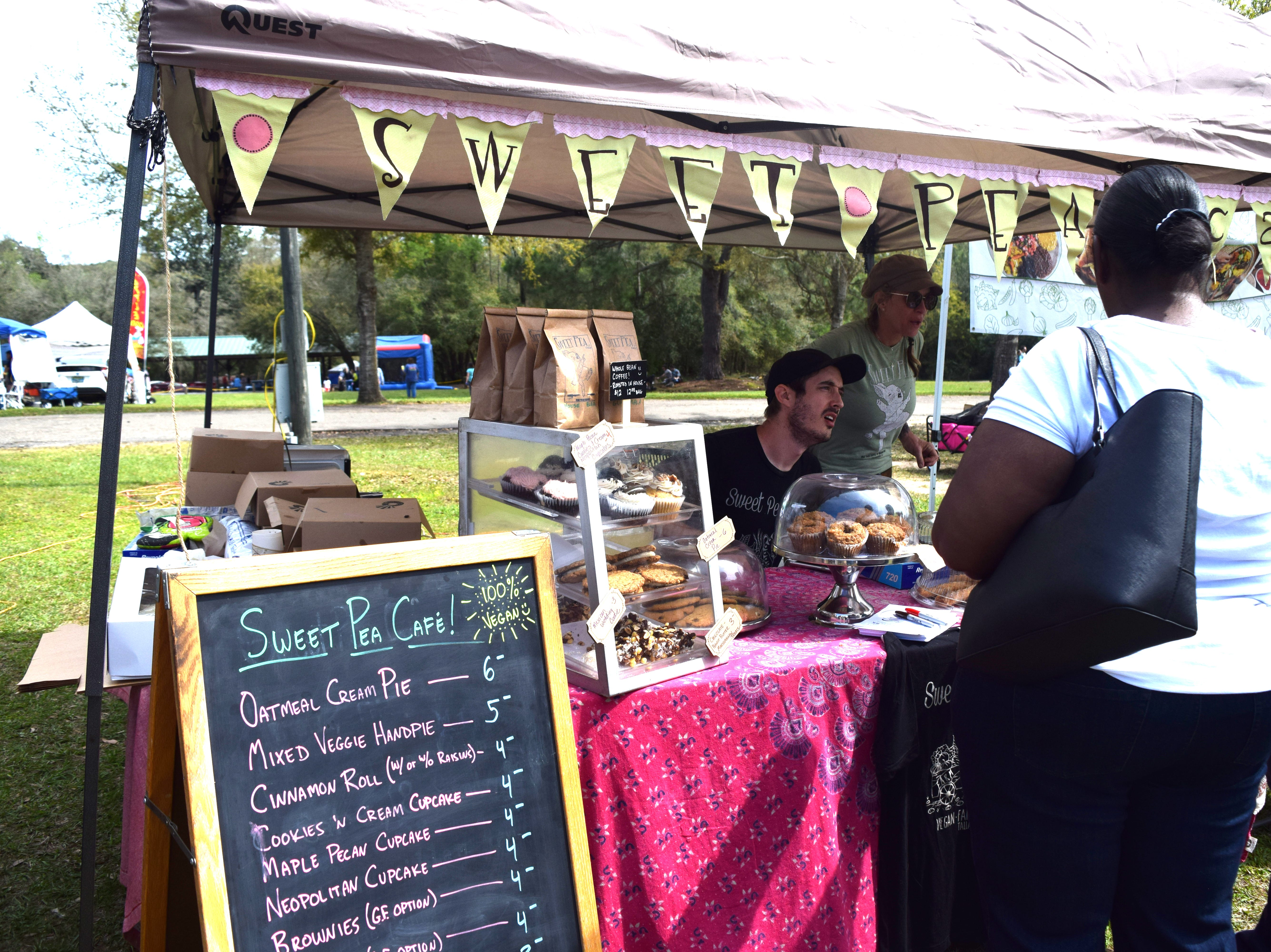 Vendors at the 5th annual North Florida VegFest promote vegetarian and vegan lifestyles.