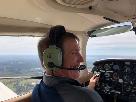 Dale Tadlock flew his first plane in celebration of raising $10,000 on Giving Tuesday for Boys Town of North Florida and presented a matching $10,000 check to Boys Town Executive Director just before takeoff.