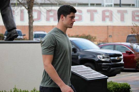 Grad transfer QB Alex Hornibrook at FSU junior day on Mar. 9, 2019.