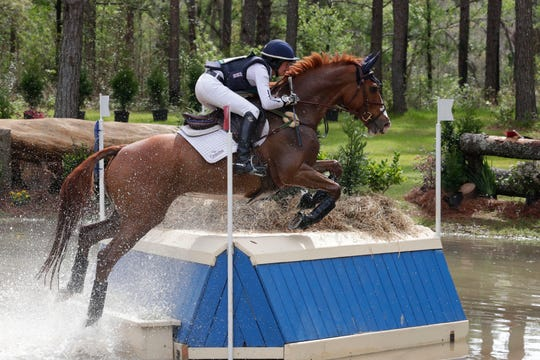 Riders compete in the cross country event at the Red Hills International Horse Trials Saturday, March 9, 2019.
