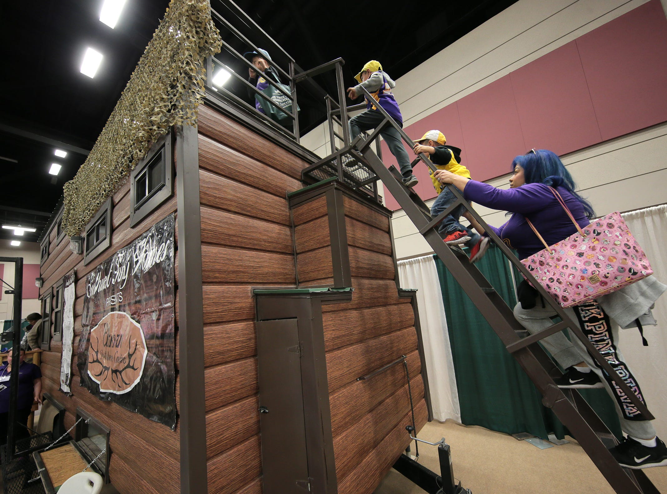 People at the 19th Annual El Paso Home and Garden Show check out a tiny home on Saturday, March 9, 2019. The annual event is in full swing at the convention center in Downtown. Find anything for your home from art to air conditioning. The show continues Sunday from 11 a.m. to 5 p.m.