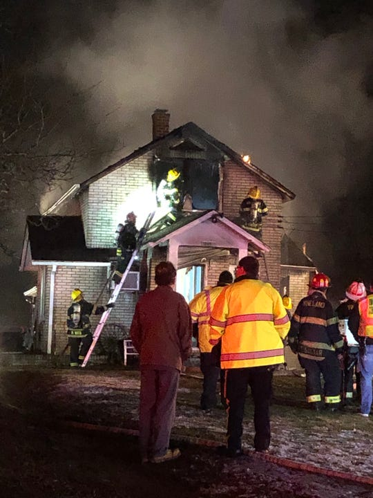 Vineland firefighters battled a fire March 8, 2019 in the 2400 block of South West Boulevard.
