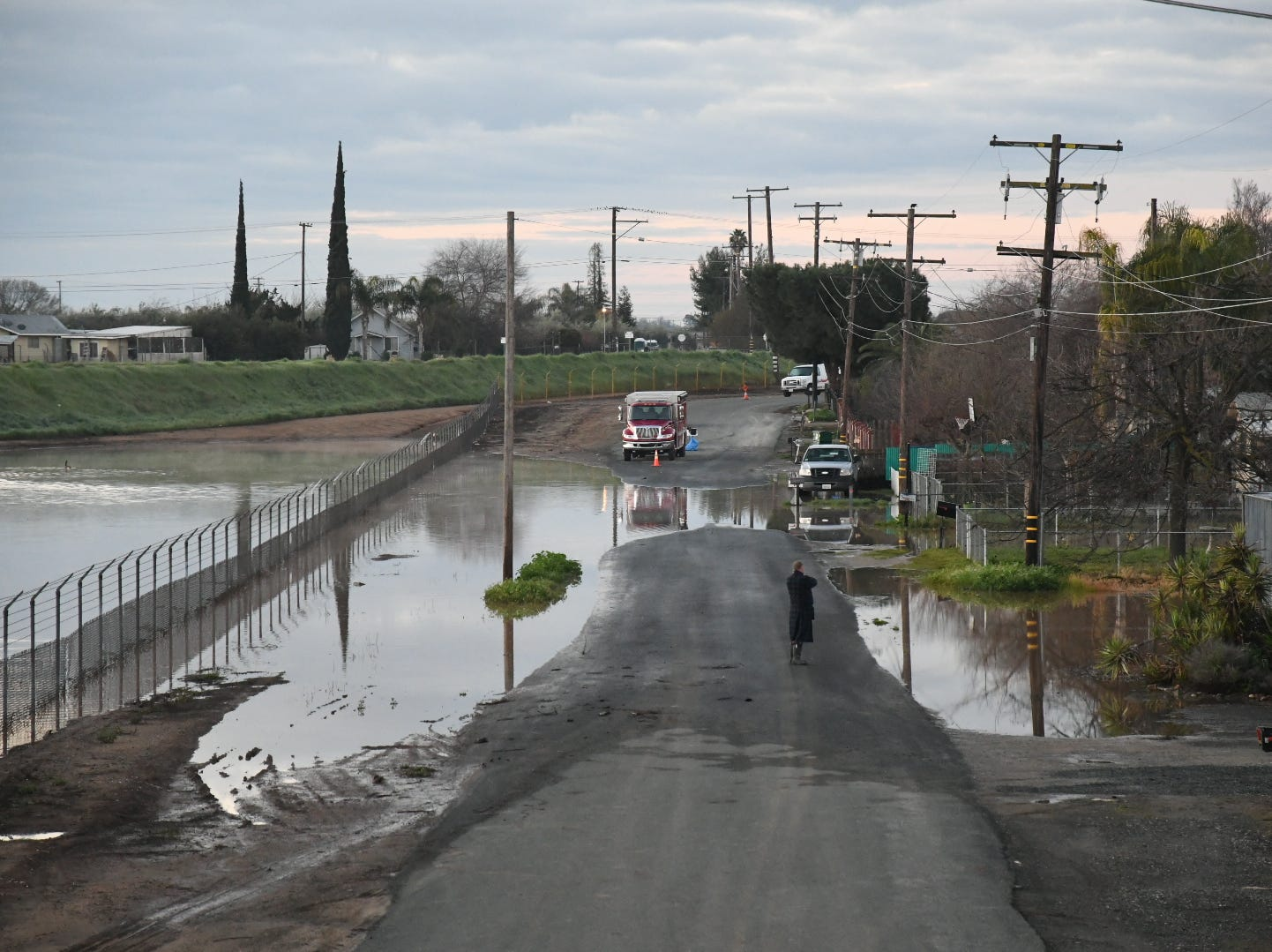 Flooding reported across southeast Tulare County after Friant-Kern Canal spills over.