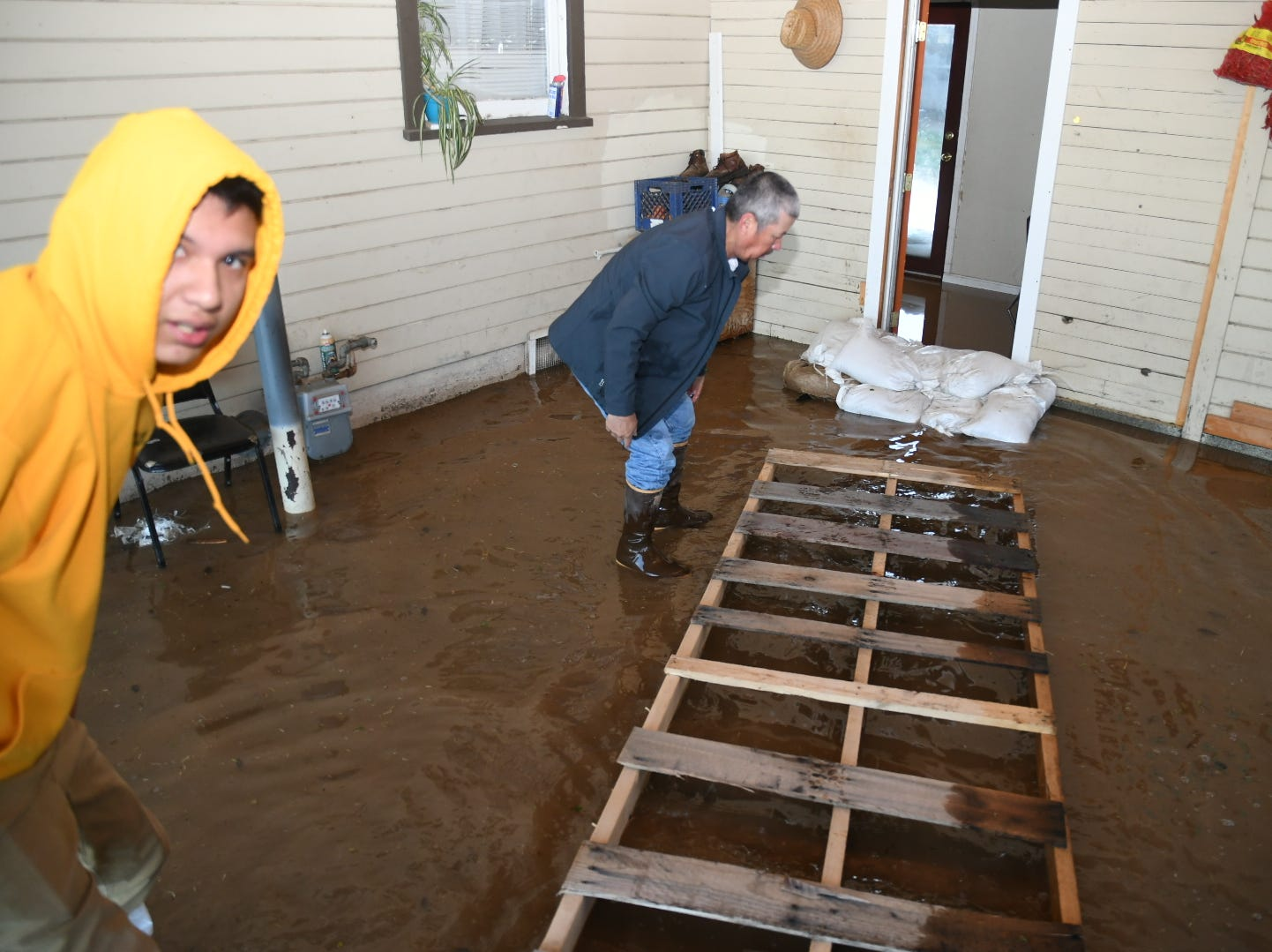 The Lara family's home flooded early Saturday morning.