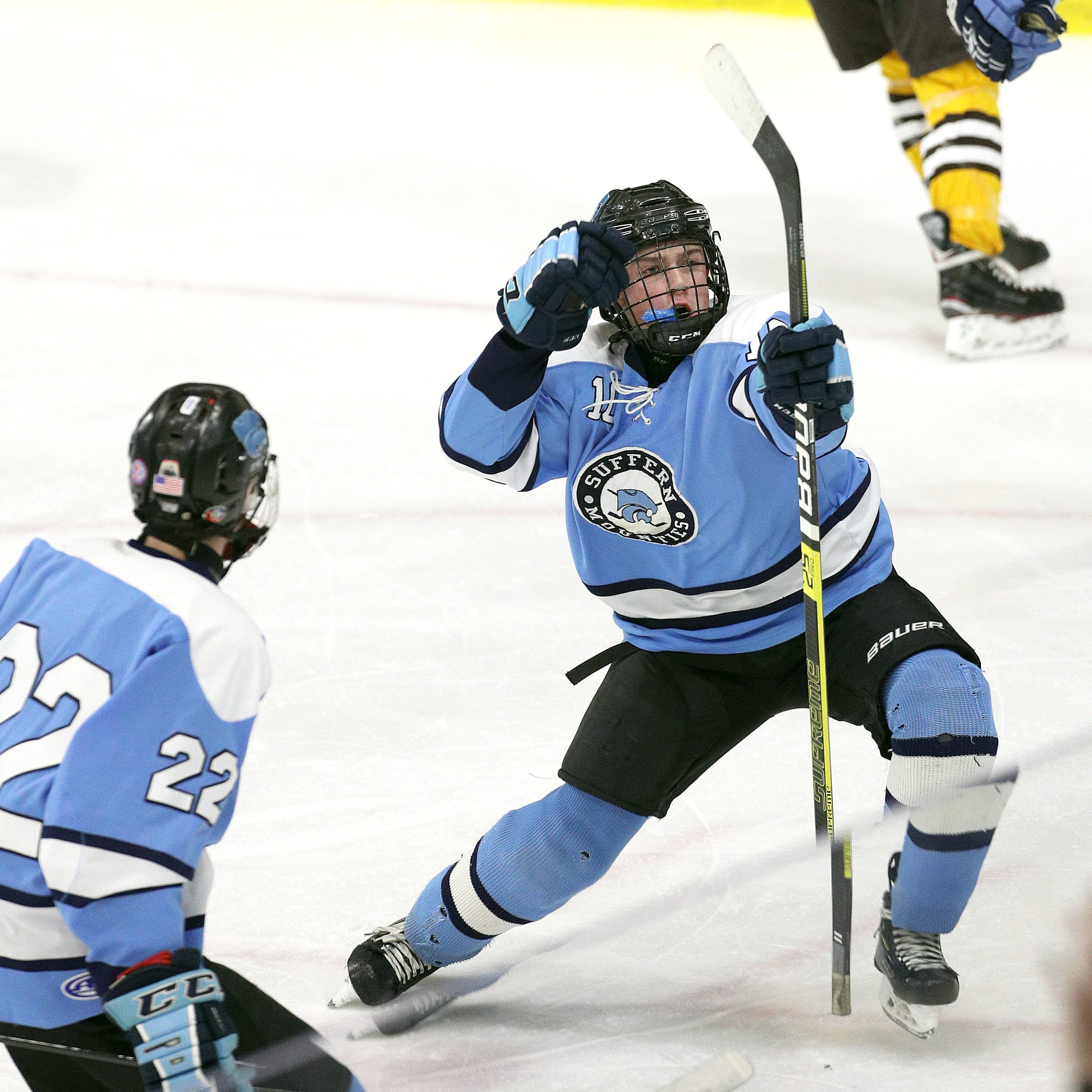 Suffern erupts for six second-period goals, blows out Canton in state hockey semifinals