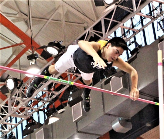 Yonkers resident Miguel Negrete of Yonkers competes in pole vault at New Balance 2019 Indoor Nationals Track & Field Championships.
