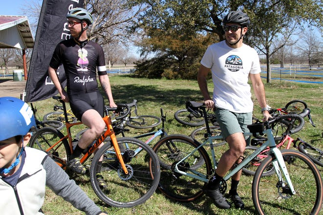 In this 2019 photo, participants are seen in the first Bike Wichita Falls Bike and Seek event. Ride and Seek is back after a hiatus in 2020 due to COVID. The event will be Saturday beginning at 11 a.m. at Lake Wichita Park.