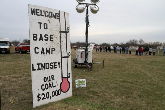 A camp out was held to raise awareness for homeless veterans Friday, March 8, 2019, at Base Camp Lindsey located at 1909 Old Windthorst Rd.
