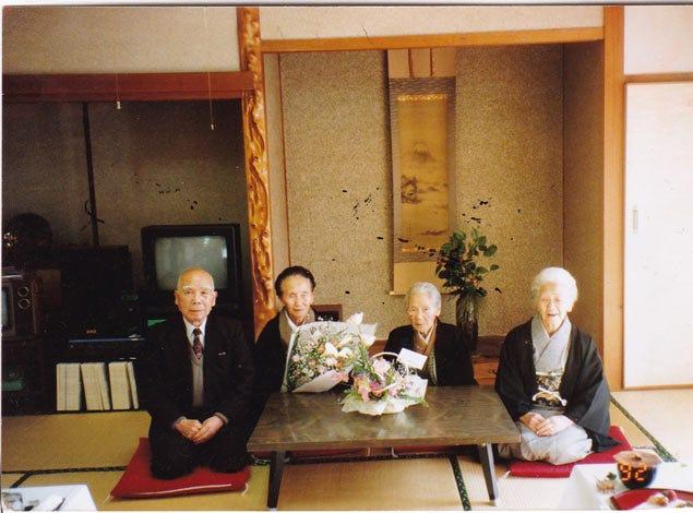 From right: Kane Tanaka, Hana and Nao Sakai (sisters), Kiyoshi Ota (younger brother).