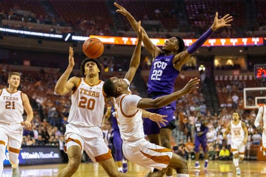 TCU outdueled Texas in a battle between two Big 12 bubble teams that could serve as an elimination game in the eyes of the selection committee.