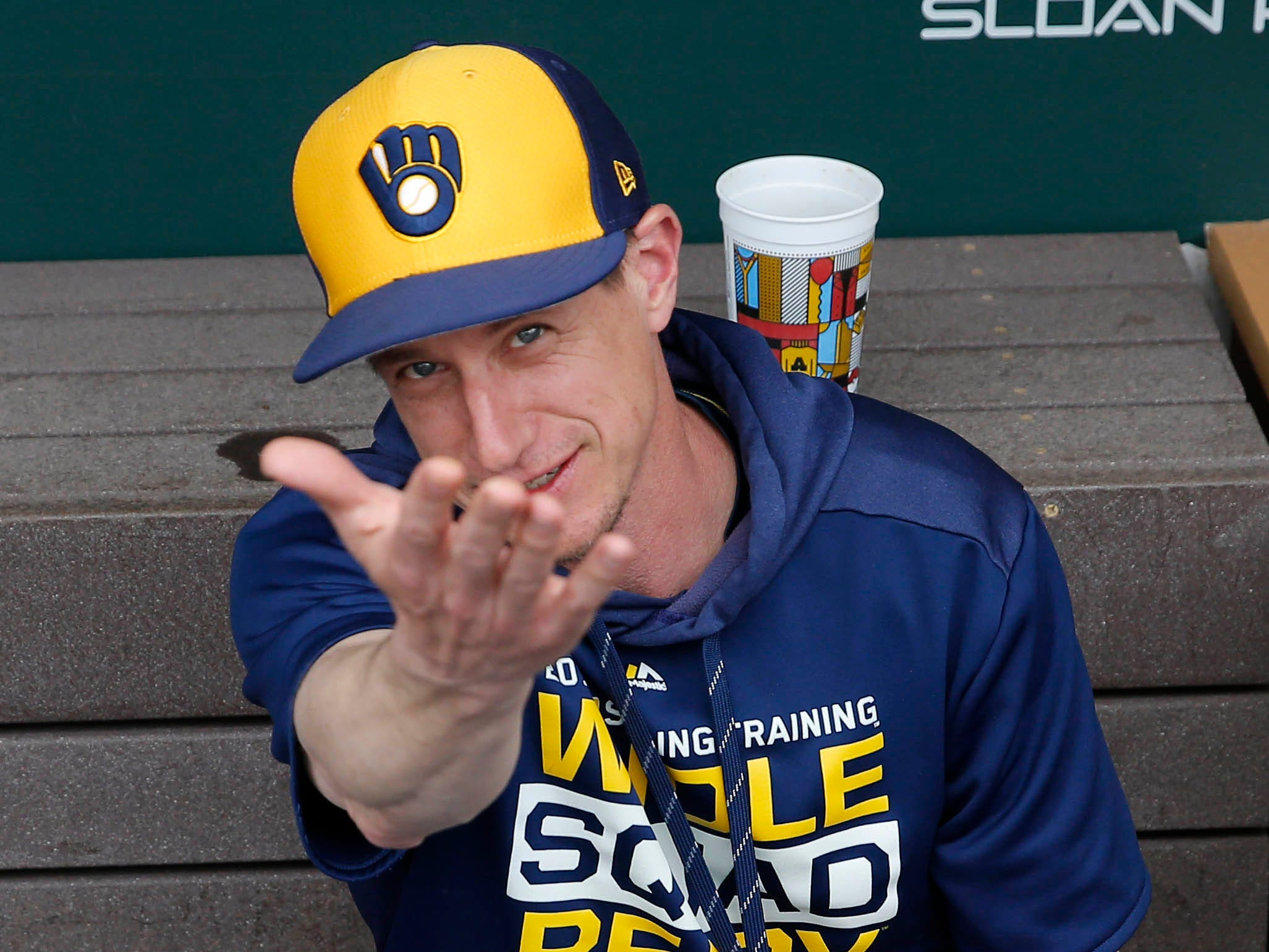 March 2: Milwaukee Brewers manager Criag Counsell before a spring training game against the Chicago Cubs at Sloan Park.