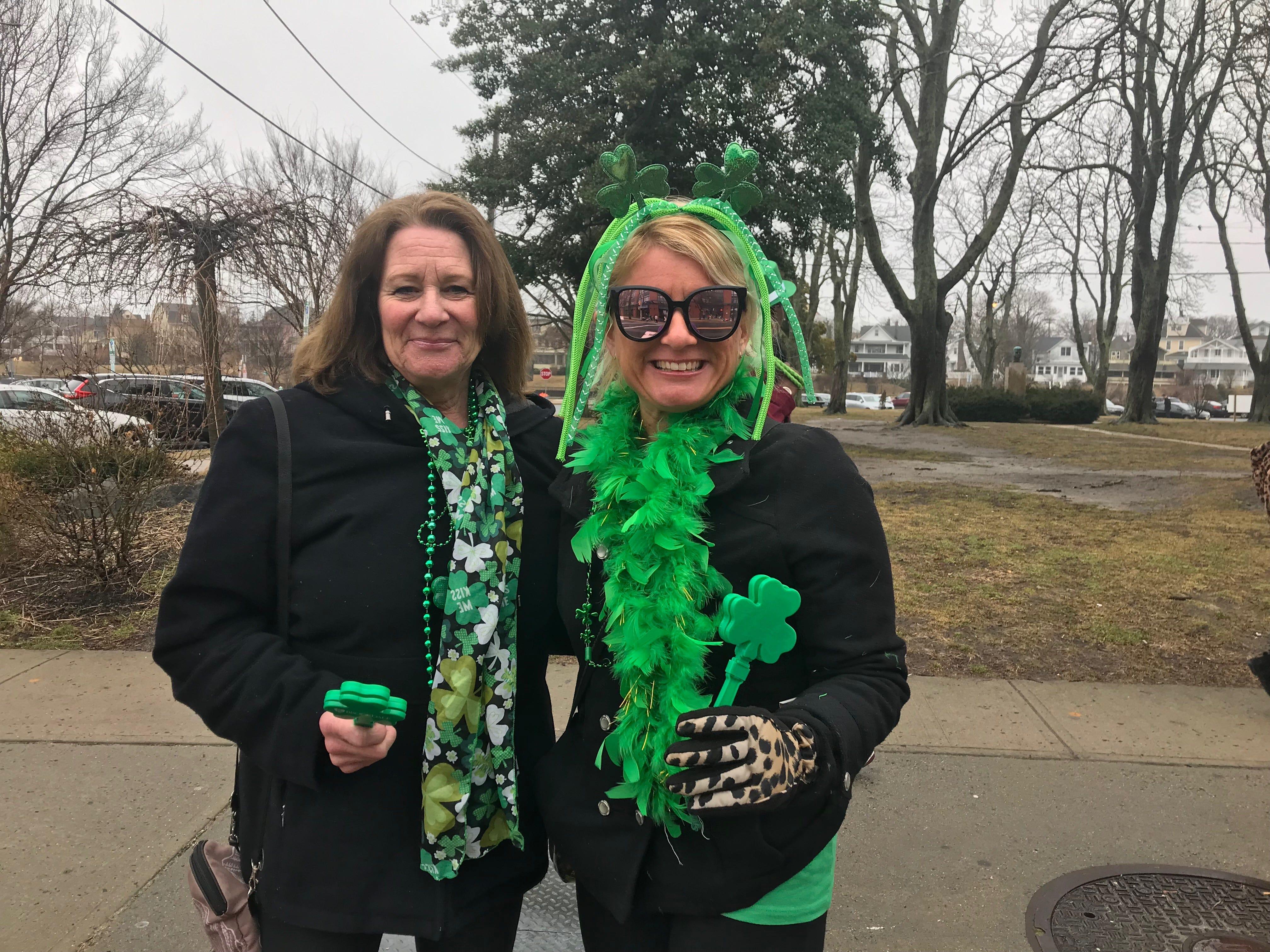 Denise Pliszka of Quakertown, Pennsylvania stands on Cookman Avenue with her daughter Katie Pliszka of Ocean Grove.