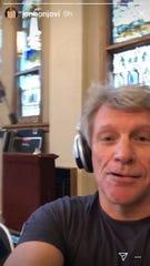 Jon Bon jovi in a Nashville recording studio.