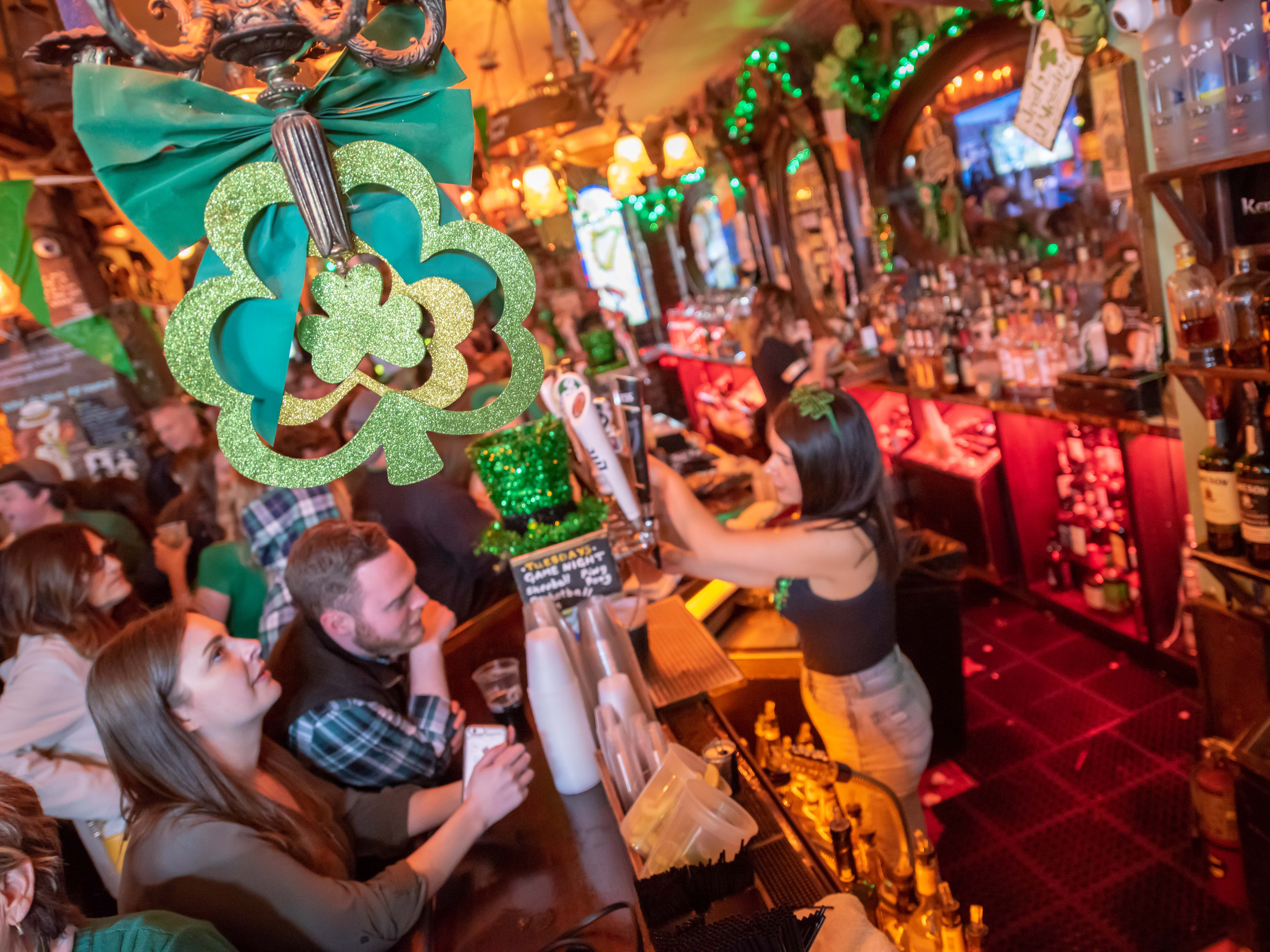St. Patrick's Day party at Johnny Mac House of Spirits on Main Street in Asbury Park on March 19, 2019.