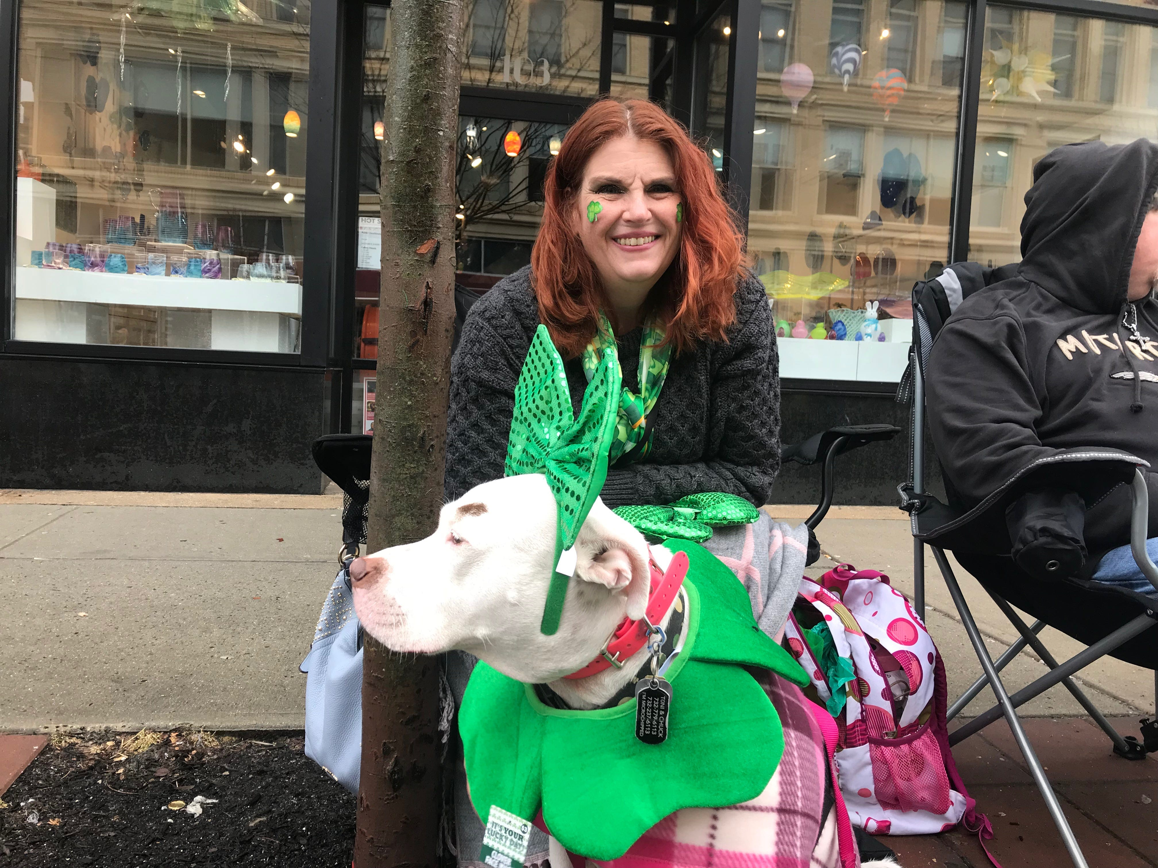 Toni Fredrickson of Toms River poses with her dog Tillie on Cookman Avenue.