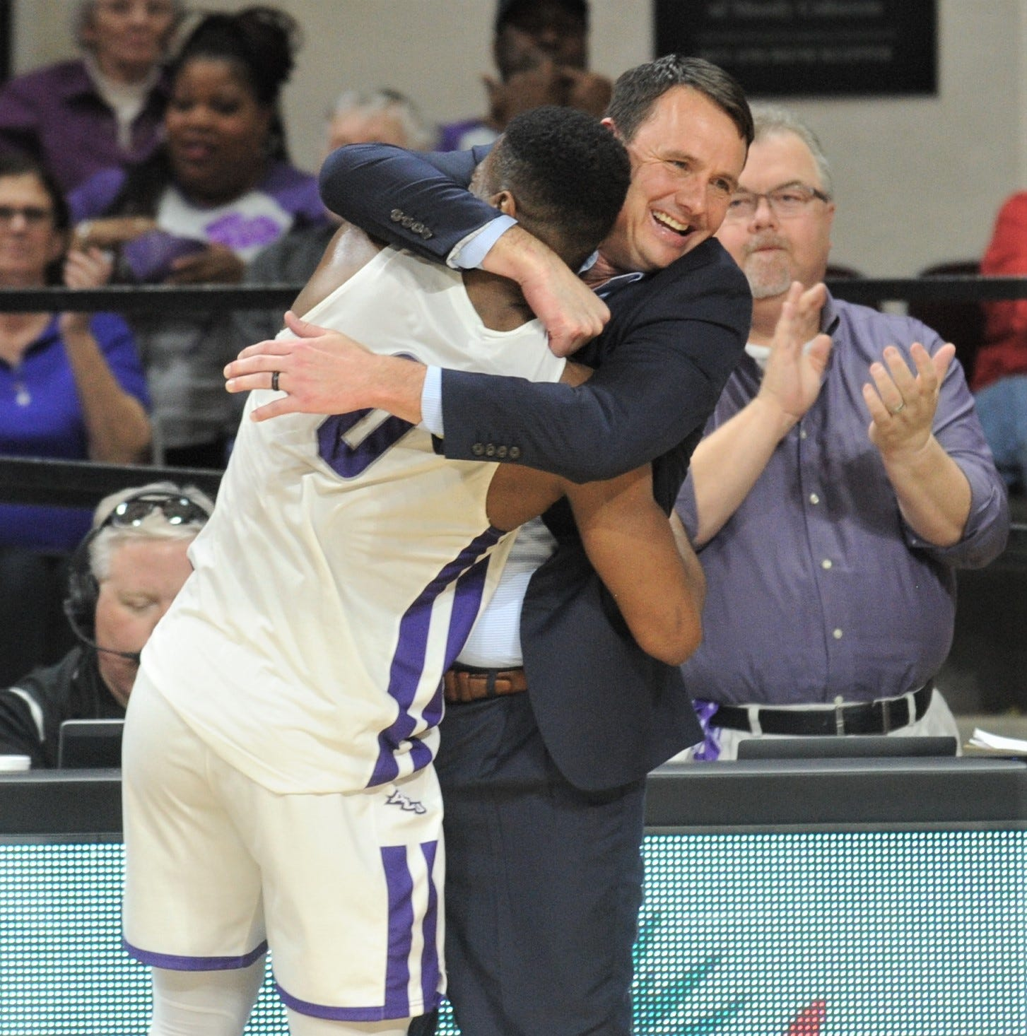 Abilene Christian coach will face UK wearing the pants he ripped in celebration