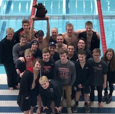 Swim Finals: 'Greatest Marshall team ever' takes third at state meet
