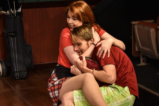 Justin (James Lokey) falls in love with a waitress at the club, Louise (Erin Sullivan).