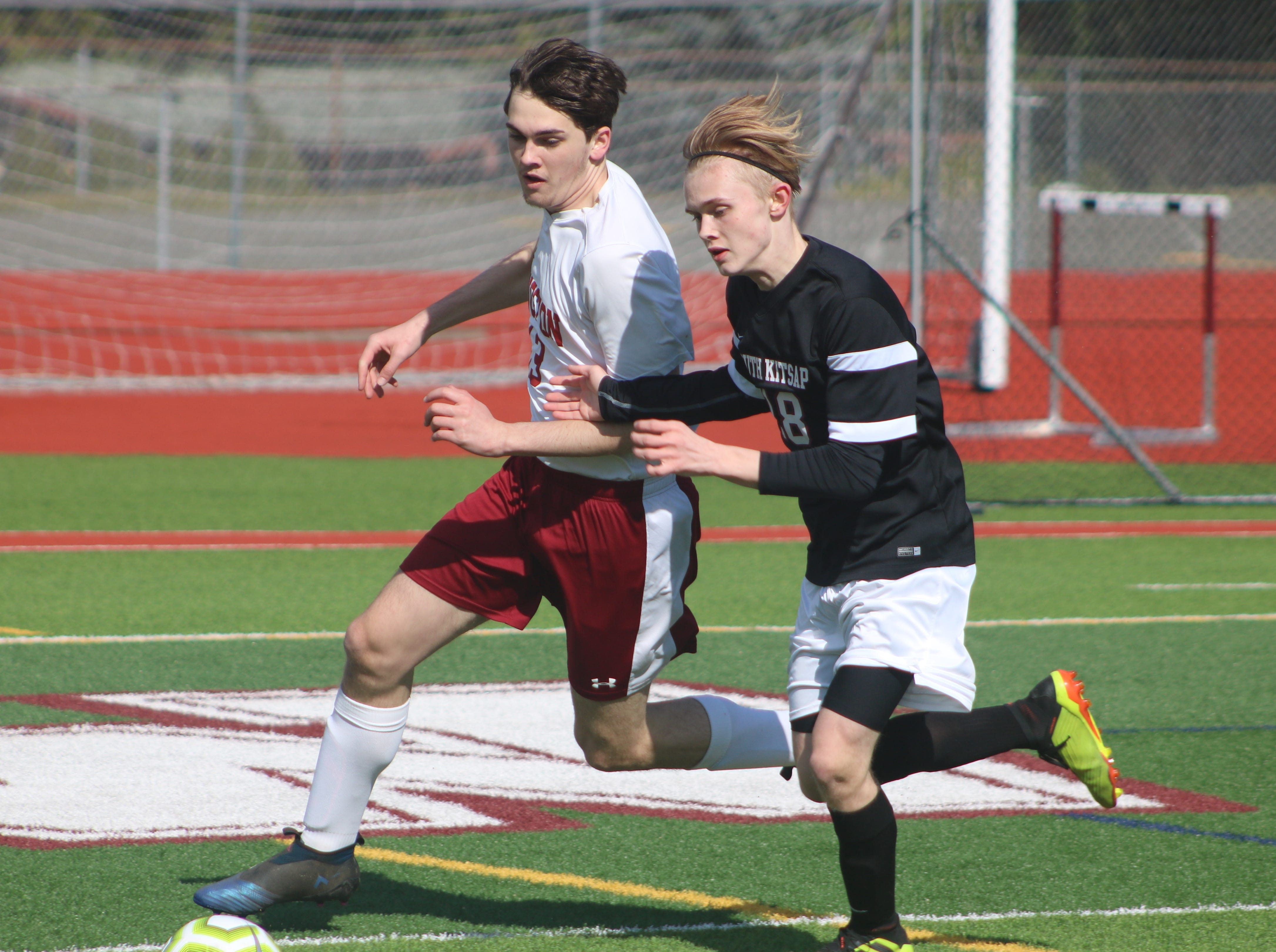 South Kitsap's boys soccer team defeated Kingston 3-0 in a nonleague game Saturday in Port Orchard.