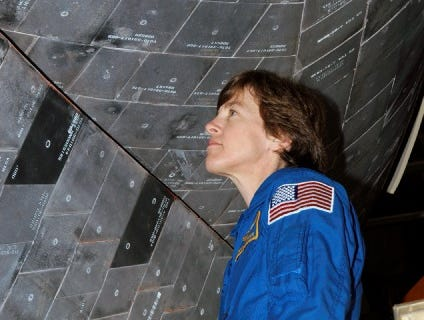 Wendy Lawrence flew on four missions between 1995 and 2005.