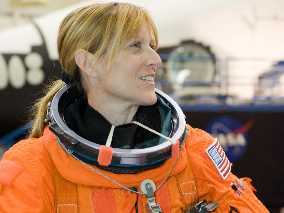 Kathryn Hire flew aboard two missions between 1997 and 2003.